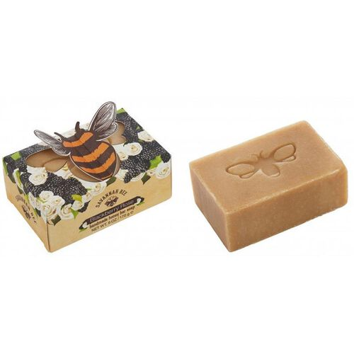 Savannah Bee: Honey Bar Soap Blackberry Rose - 150 gm