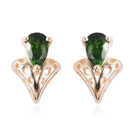 RACHEL GALLEY Chevrolet Collection - Russian Diopside Stud Earrings (with Push Back) in Yellow Gold