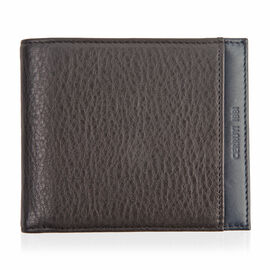 CERRUTI 1881 - 100% Genuine Leather Black Colour Wallet (Size 11x10 Cm)