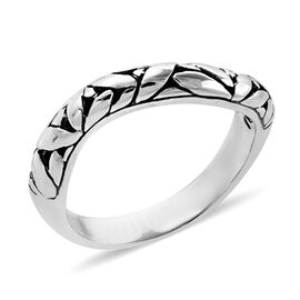 Bali Legacy Collection Sterling Silver Band Ring, Silver wt 4.72 Gms.