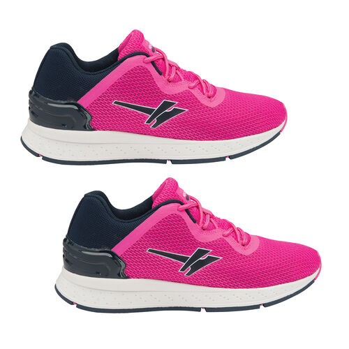 Gola Major 2 Lace Up Trainers (Size 4) - Pink and Navy