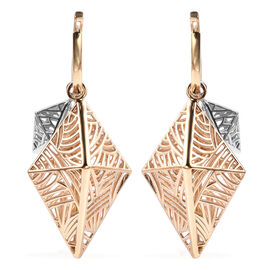 Isabella Liu Sea Rhyme Collection - Two Tone Overlay Sterling Silver Detachable Rhombus Earrings (wi