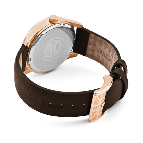 Ben Sherman Watch with Mink Dial and Brown Leather Strap