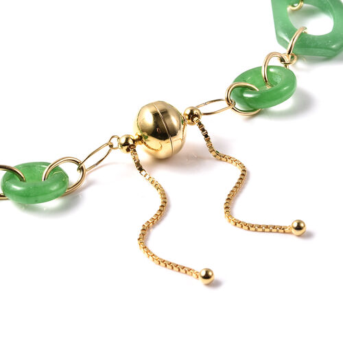 Limited Edition- Green Jade, Natural Cambodian Zircon Necklace (Size 20)  in Yellow Gold Overlay Sterling Silver 163.00 Ct, Silver wt. 12.32 Gms
