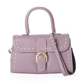 Mayfair Classic 100% Genuine Leather lilac Colour Tote Bag with Removable Shoulder Strap (Size 27x16