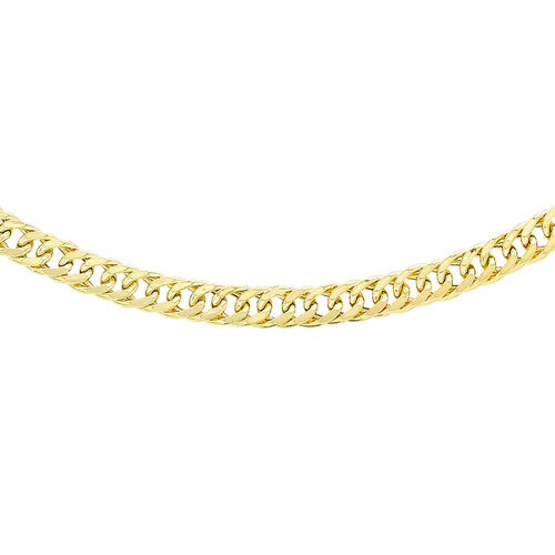 18 Inch Triple Curb Chain in 9K Gold 4.40 Grams