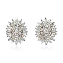 0.50 Carat Diamond Cluster Stud Earrings in 9K Gold 1.85 grams SGL Certified I3 GH