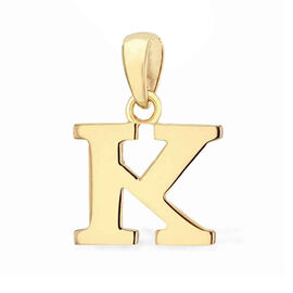 9K Yellow Gold Initial K Pendant