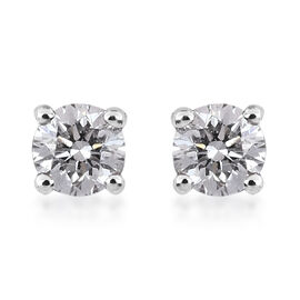 RHAPSODY 950 Platinum IGI Certified Diamond (VS/E-F) Solitaire Stud Earrings (with Screw Back) 0.20