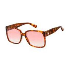 MAX MARA Womens Square Brown Tort Sunglasses