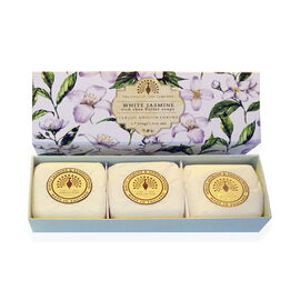 THE ENGLISH SOAP COMPANY- Classic Gift Boxed Soap 3 x 100g White Jasmine- Estimated delivery within 5-7 working days