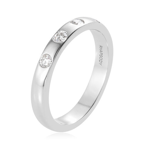 RHAPSODY 950 Platinum IGI Certified Diamond (Rnd) (VS/E-F) Ring 0.250 Ct, Platinum wt 6.35 Gms.