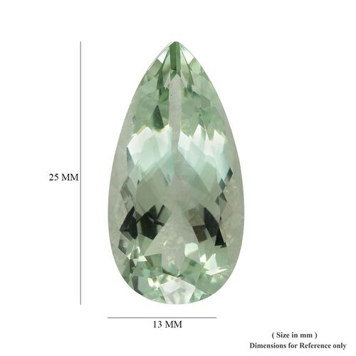 AAA Prasiolite Pear 25x13 Faceted 16.17 Cts