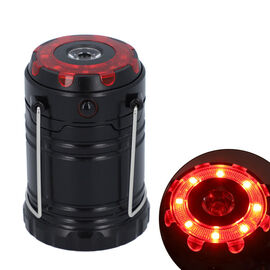 LED Lantern Lamp with Flashlight (3xAAA battery Not Included) (Size 6.8x6.8x10 Cm) - Black