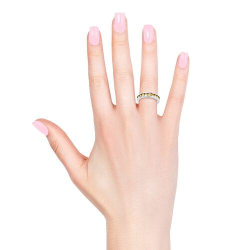 RHAPSODY 2.75 Ct AAAA Chanthaburi Yellow Sapphire Full Eternity Ring in 950 Platinum