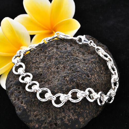 Sterling Silver Fancy Link Bracelet (Size 8), Silver wt 23.20 Gms