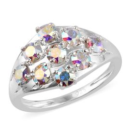 J Francis AB Crystal from Swarovski Cluster Ring in Sterling Silver