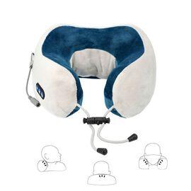 U-Shaped Neck Velvet and Memory Foam Massager (2x22.5x11cm) - Blue