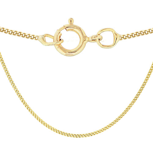 One Time Close Out Deal- 9K Yellow Gold Diamond Cut Curb Necklace (Size 18)