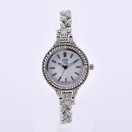 Royal Bali Collection - EON 1962 Swiss Movement Water Resistant Bracelet Watch (Size 7) in Sterling