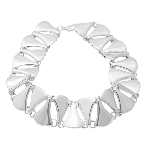 High Polish Collar Necklace in Sterling Silver 60 Grams 15.5 Inch