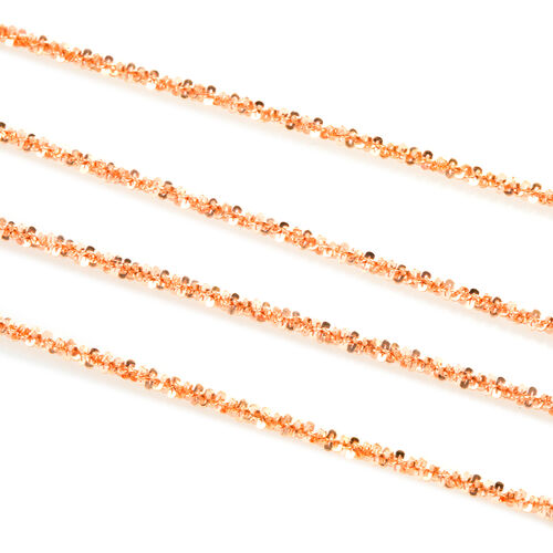 Vicenza Collection Rose Gold Overlay Sterling Silver Margarita Necklace (Size 60), Silver wt 11.20 Gms.