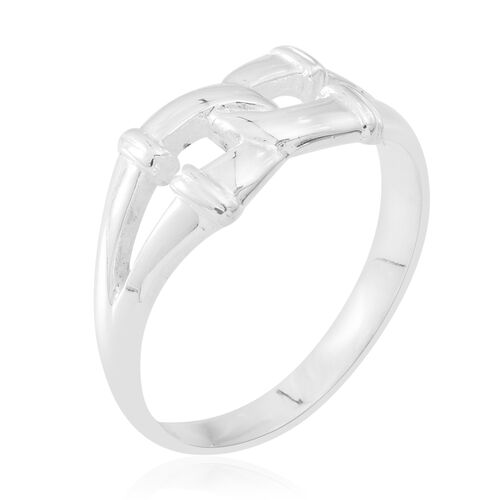 Sterling Silver Interlock Ring, Silver wt 3.80 Gms.
