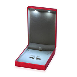 Solid Red Colour Necklace Box with LED Light (Size 9x2.5x7 Cm)