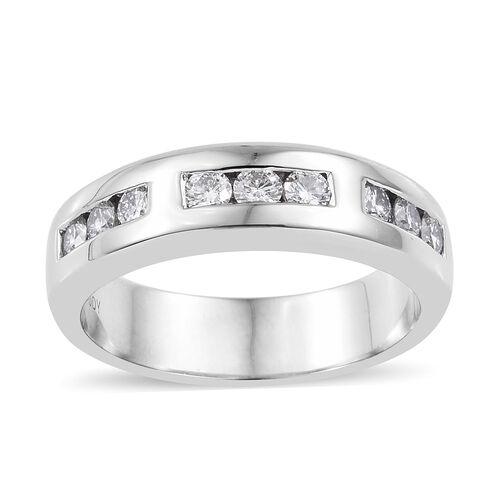 RHAPSODY 950 Platinum IGI Certified Diamond (Rnd) (VS/E-F) Band Ring 0.500 Ct, Platinum wt 9.29 Gms.