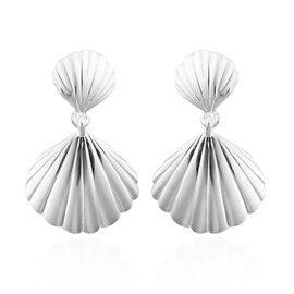 Sterling Silver Seashell Dangle Earrings (with Push Back)