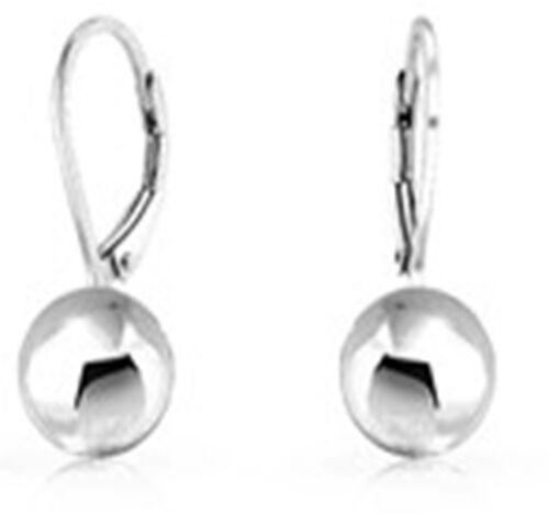 Sterling Silver Lever Back Ball Drop Earrings