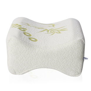 Serenity Night 100% Visco Elastic Memory Foam Knee Pillow Infused with Cooling Gel & Bamboo Cover (2
