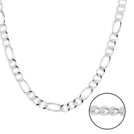 Italian Made - Sterling Silver Figaro Chain (Size 18), Silver wt 13.24 Gms