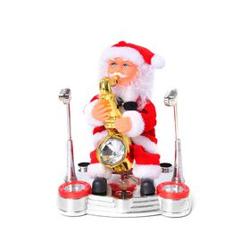 Christmas Decorations Singing Santa Claus (Size 22x17 Cm)