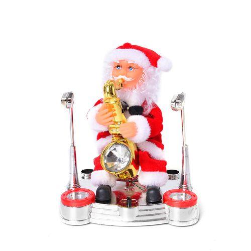 Christmas Decorations Singing Santa Claus (Size 22x17 Cm)