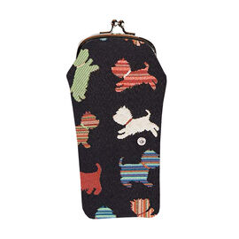 SIGNARE - Tapestry Playful Puppy Glasses Pouch ( 11x20xx1cm)