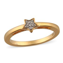 MP Diamond Star Stacker Ring in 14K Gold Overlay Sterling Silver