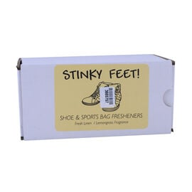 Emotif - Pair of 2 Stinky Feet Shoe Figurine - Fresh Linen & Lemon Grass