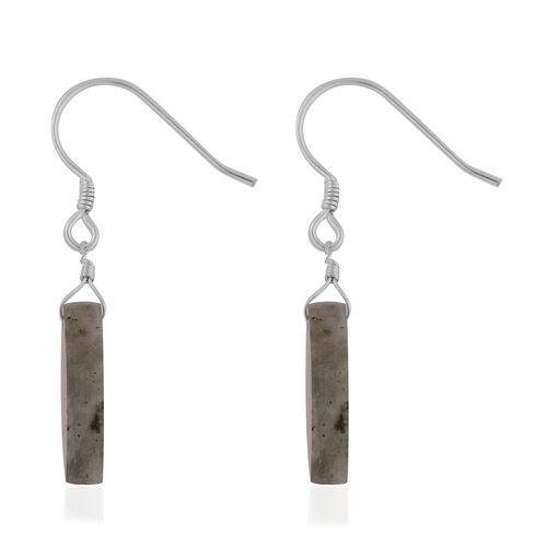 Labradorite Hook Earrings in Sterling Silver 15.00 Ct.