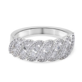 14K White Gold Diamond (I1-I2/ G-H) Ring 0.37 Ct, Gold wt 4.25 Gms