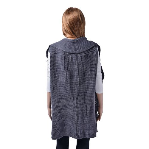 Grey Colour Cardigan (Free Size)
