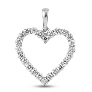 Web Exclusive - RHAPSODY 950 Platinum IGI Certified Diamond (VS/E-F) Open Heart Pendant 0.50 Ct
