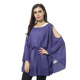 Off  Shoulder Apparel (Size 143x78 Cm) - Purple