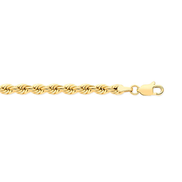 Close Out Deal- 9K Yellow Gold Diamond Cut Rope Necklace (Size - 30) with Lobster Clasp Gold Wt 9.22
