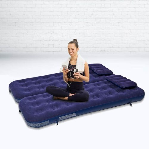 3 in 1 Inflatable Airbed Mattress with 2 Pillows (Size 191x73x22 Cm)