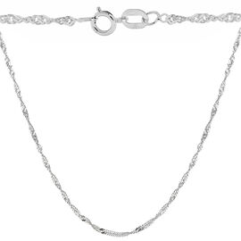 Sterling Silver Twisted Curb Chain (Size 18)