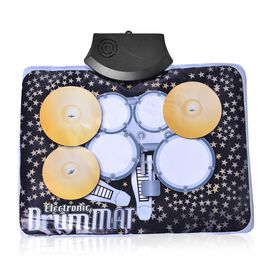 Cordless Portable Electronic  Finger Drum set (Size 34X25 Cm)