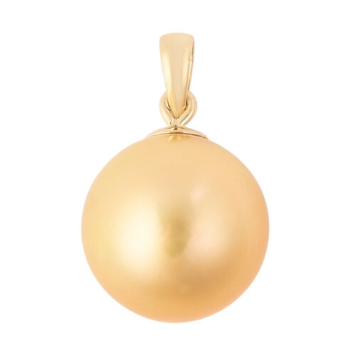 ILIANA 18K Yellow Gold Golden South Sea Pearl Pendant
