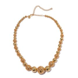 RACHEL GALLEY Yellow Gold Overlay Sterling Silver Momento Disc Necklace (Size 16 with 4 inch Extender), Silver wt 80.63 Gms