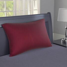 Serenity Night - Mulberry Silk Pillow (75x50cm) - Magenta